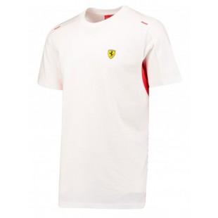 Formule 1 - Tričko Ferrari - Sebastian Vettel - bílé