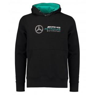 Formule 1 - Týmová mikina Mercedes AMG Petronas s kapucí - černá