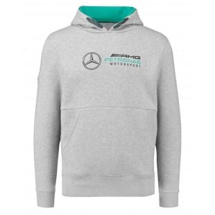 Formule 1 - Týmová mikina Mercedes AMG Petronas s kapucí - šedá