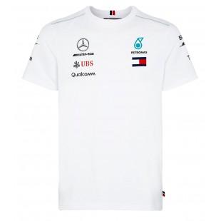 Formule 1 - Týmové tričko Mercedes AMG Petronas - bílé
