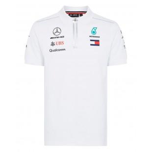 Formule 1 - Týmové polo tričko Mercedes AMG Petronas - bílé