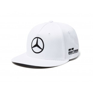 "Formule 1 - Kšiltovka Lewis Hamilton ""Replica"" - plochý kšilt, bílá"