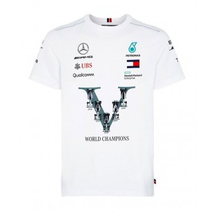 Formule 1 - Týmové tričko Mercedes AMG Petronas WORLD CHAMPIONSHIP WINNER
