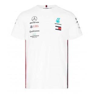 Formule 1 - Týmové tričko Mercedes AMG Petronas F1 - bílé