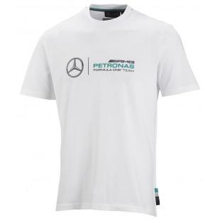 Formule 1 - Tričko Mercedes AMG Petronas F1 - bílé