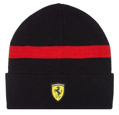 Zimní čepice Ferrari - černá - GPF1obchod.cz 2de06252e4