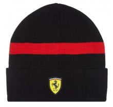 Zimní čepice Ferrari - černá