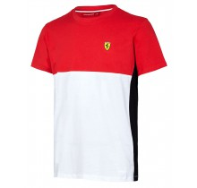 Tričko Ferrari Cut & Sew - červené