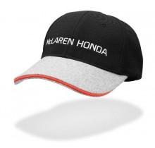 Týmová kšiltovka McLaren Honda - šedá