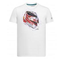 """Tričko Lewis Hamilton """"Helmet"""" - bílé"""