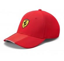 Kšiltovka Ferrari Scudetto Carbon - červená