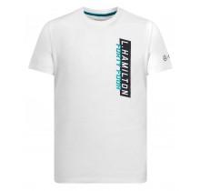 Tričko Lewis Hamilton 44 - bílé