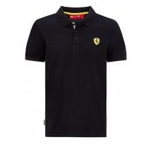 Polo tričko Ferrari Classic - černé