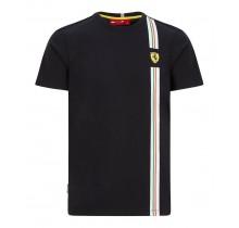 Tričko Ferrari TRICOLORE - černé