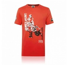 Tričko James Hunt - červené - XL