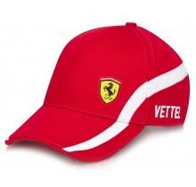 "Kšiltovka Ferrari ""Vettel no. 5"" - červená"