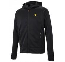 Mikina Ferrari s kapucí - černá