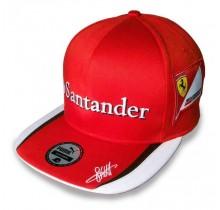 Kšiltovka Sebastian Vettel Replica - plochý kšilt