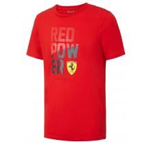 Tričko Ferrari RED POWER - červené - XL