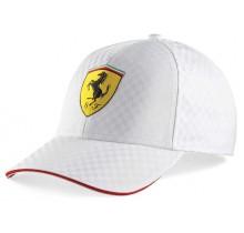 Kšiltovka Ferrari Racing Check - bílá