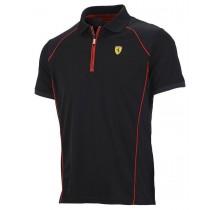 Polo tričko Ferrari Performance - černé